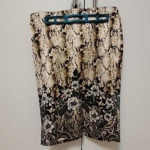 Snakeskin skirt